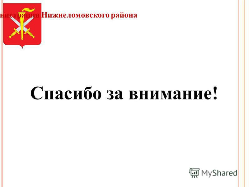 Администрация Нижнеломовского района Спасибо за внимание!