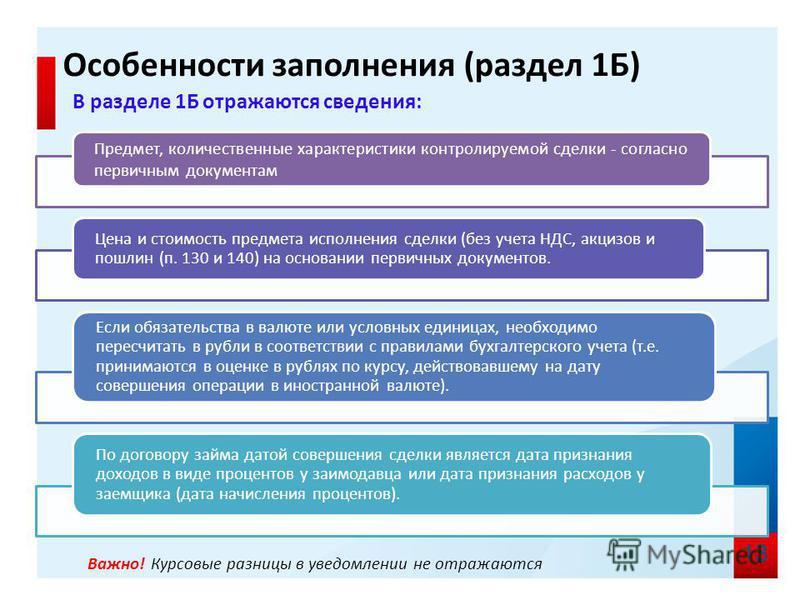 Важно! Курсовые разницы в уведомлении не отражаются 13 Предмет, количественные характеристики контролируемой сделки - согласно первичным документам Цена и стоимость предмета исполнения сделки (без учета НДС, акцизов и пошлин (п. 130 и 140) на основан