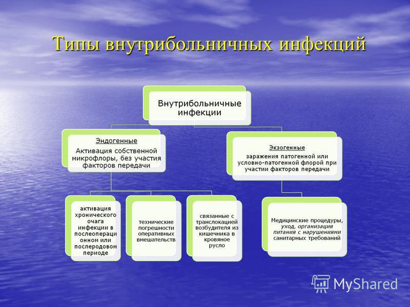 Типы внутрибольничных инфекций