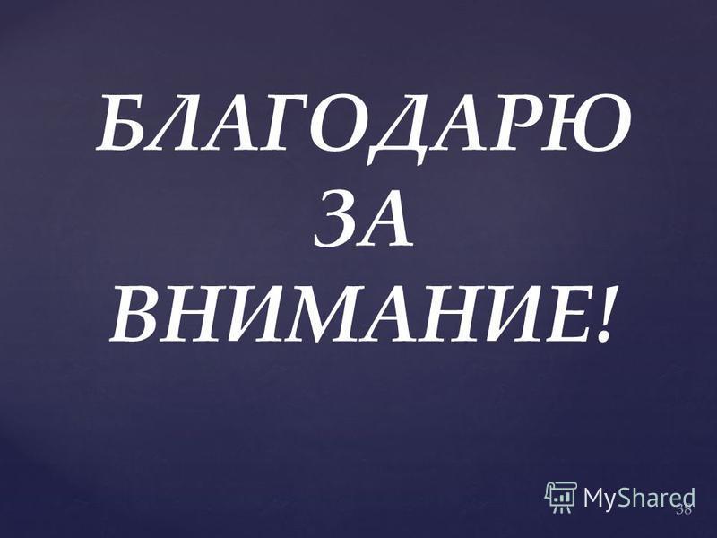 БЛАГОДАРЮ ЗА ВНИМАНИЕ! 38