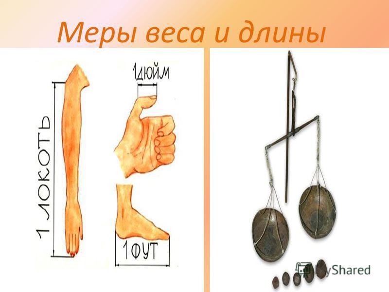 Меры веса и длины