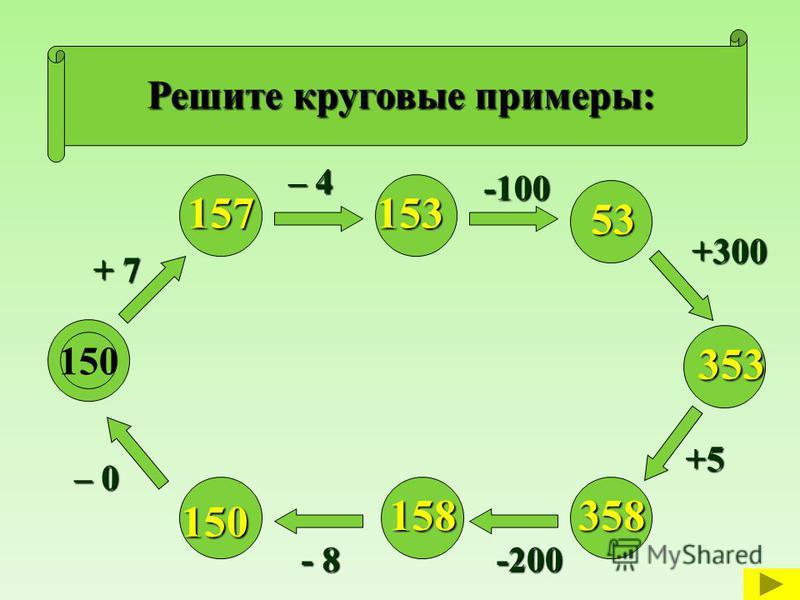 Круговые примеры 4 класс в моро как решать