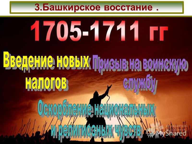 3. Башкирское восстание.