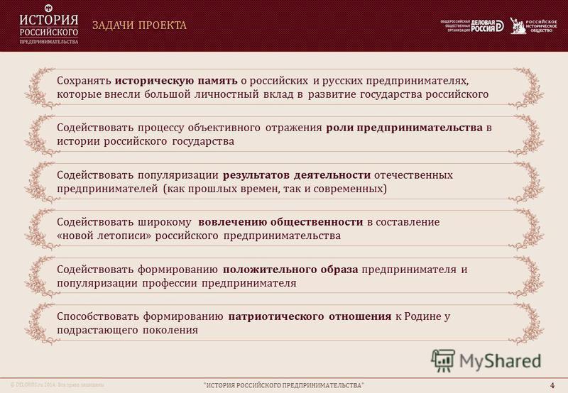 © DELOROS.ru 2014. Все права защищены ЗАДАЧИ ПРОЕКТА