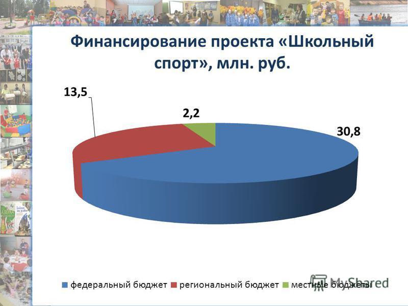 Финансирование проекта «Школьный спорт», млн. руб.
