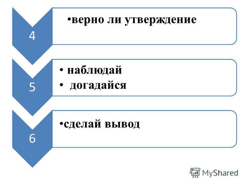 4 верно ли утверждение 5 наблюдай догадайся 6 сделай вывод