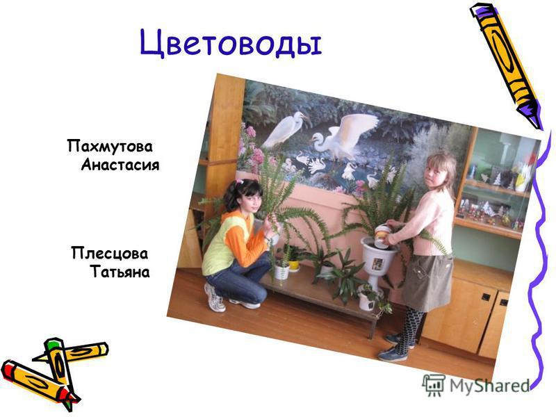 Цветоводы Пахмутова Анастасия Плесцова Татьяна
