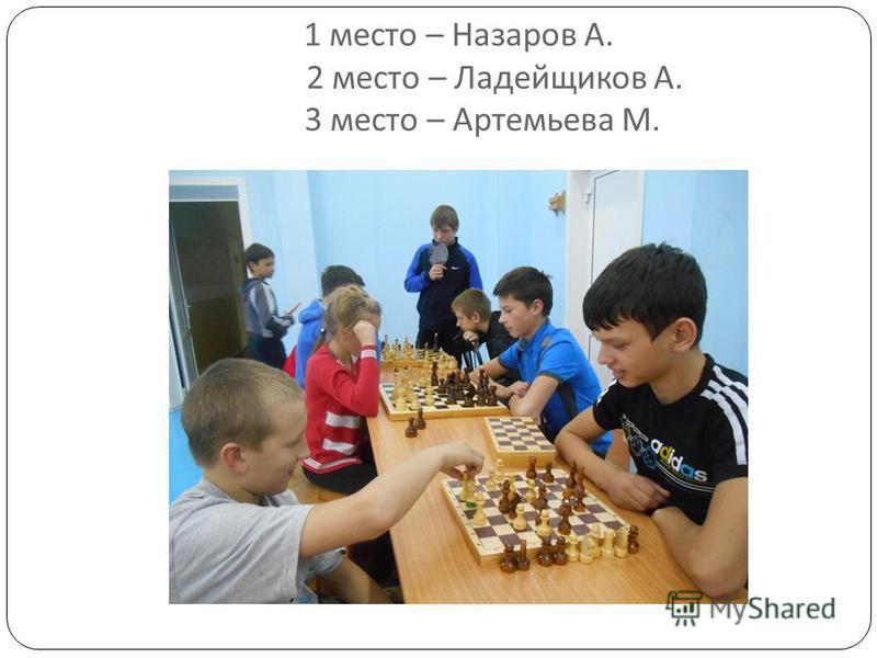 1 место – Назаров А. 2 место – Ладейщиков А. 3 место – Артемьева М.