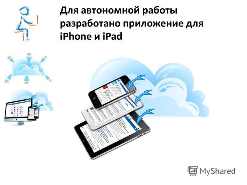 Для автономной работы разработано приложение для iPhone и iPad