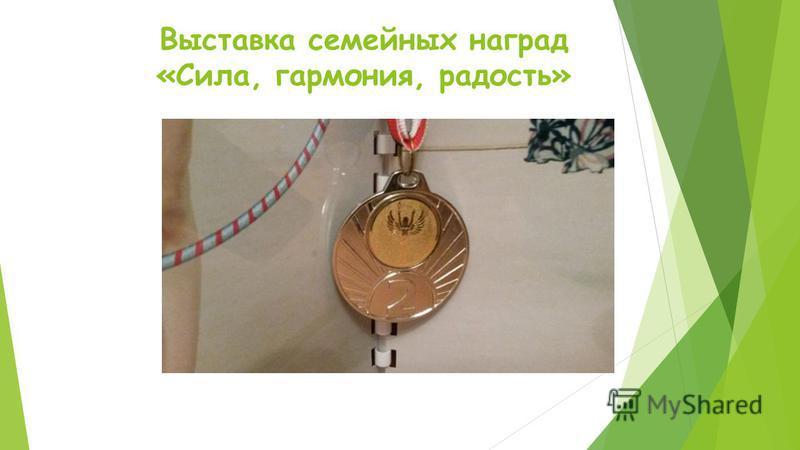 Выставка семейных наград «Сила, гармония, радость»