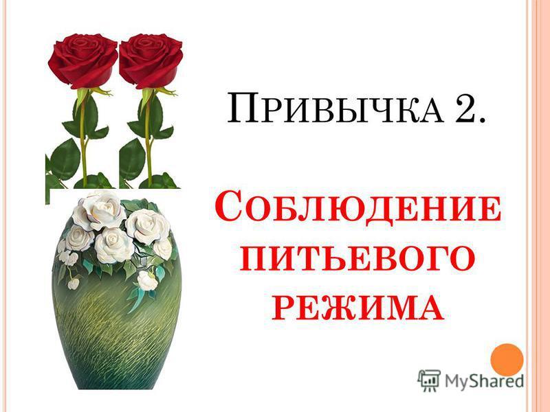 П РИВЫЧКА 2. С ОБЛЮДЕНИЕ ПИТЬЕВОГО РЕЖИМА