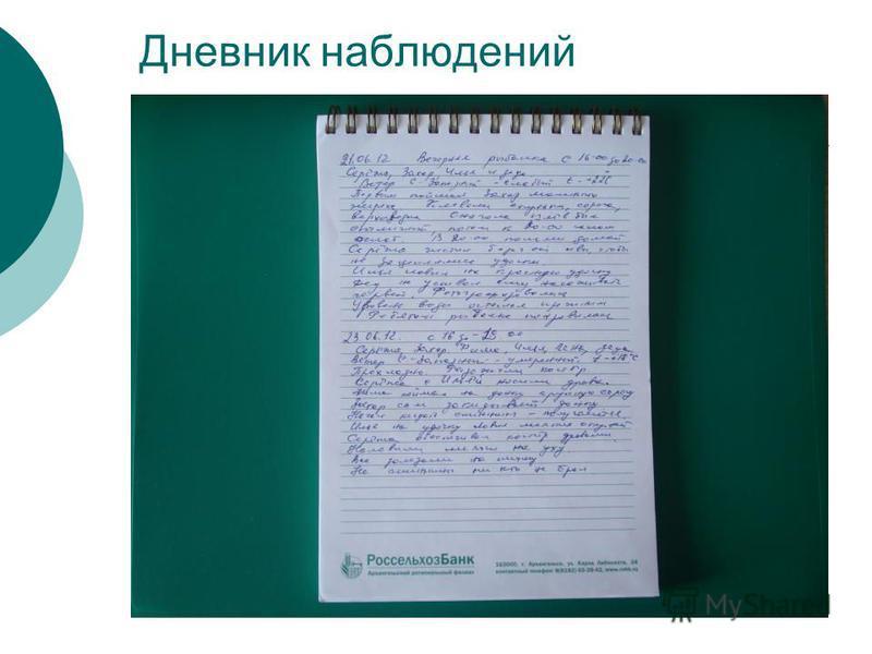 Дневник наблюдений