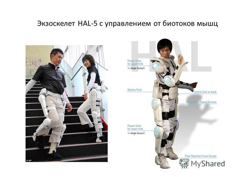 Экзоскелет НAL-5 с управлением от биотоков мышц