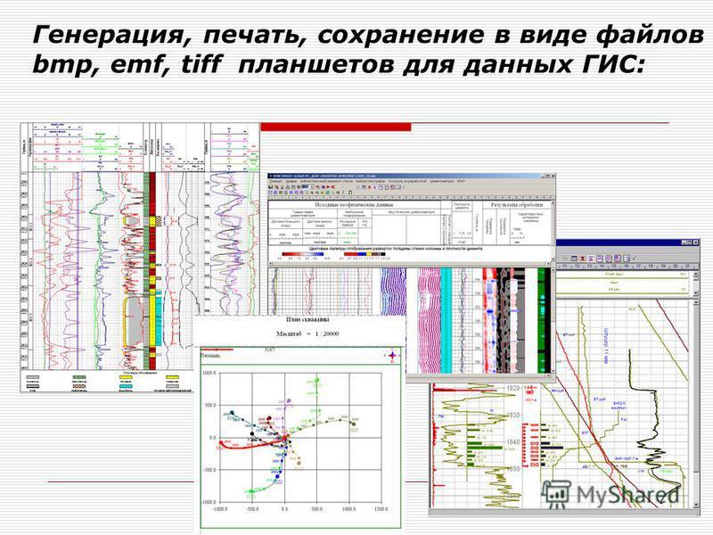 Генерация, печать, сохранение в виде файлов bmp, emf, tiff планшетов для данных ГИС: