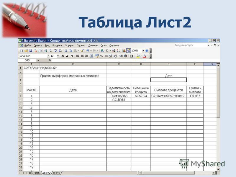 Таблица Лист 2