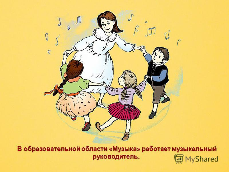 В образовательной области «Музыка» работает музыкальный руководитель. В образовательной области «Музыка» работает музыкальный руководитель.