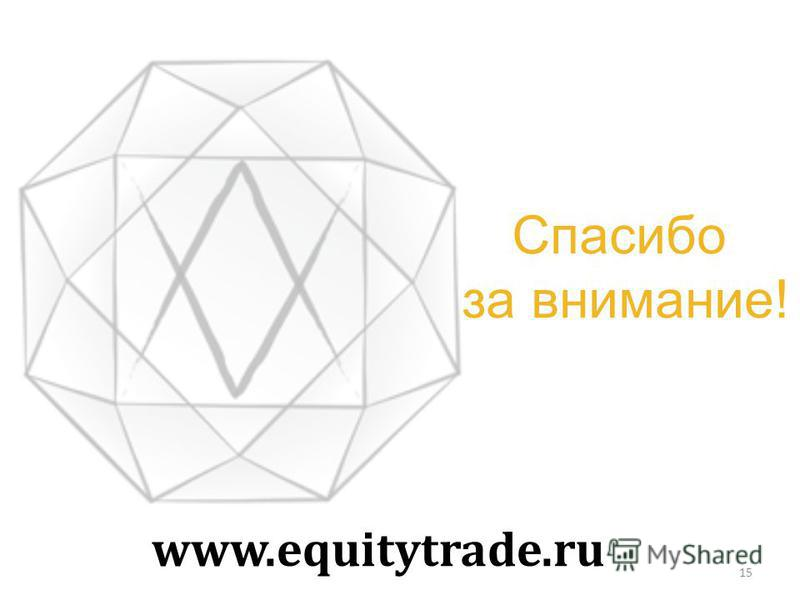 Спасибо за внимание! www.equitytrade.ru 15