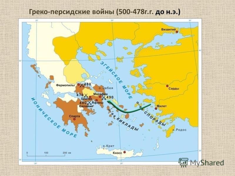 Греко-персидские войны (500-478 г.г. до н.э.)