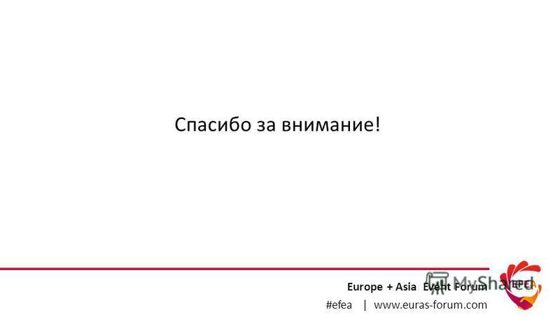 Europe + Asia Event Forum #efea | www.euras-forum.com Спасибо за внимание!