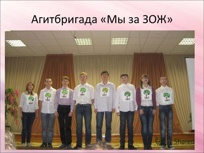Агитбригада «Мы за ЗОЖ»