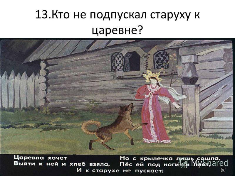 13. Кто не подпускал старуху к царевне?
