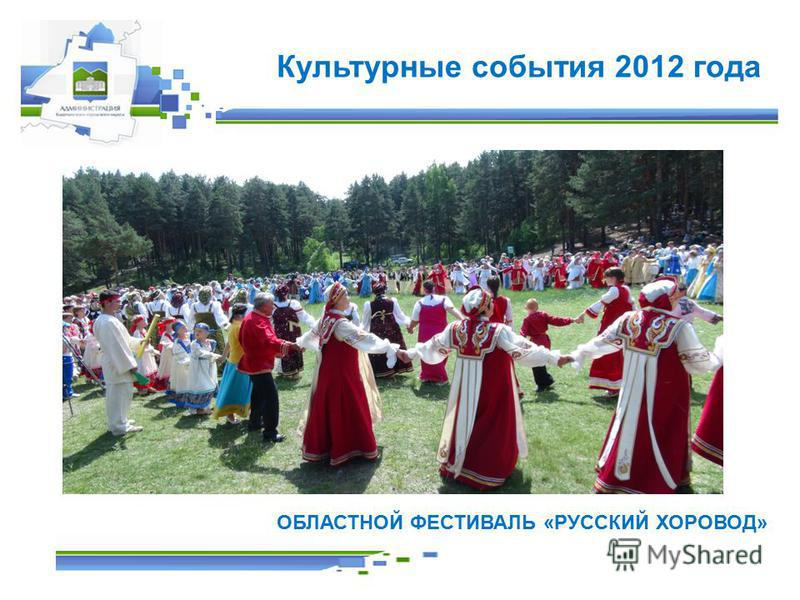Культурные события 2012 года ОБЛАСТНОЙ ФЕСТИВАЛЬ «РУССКИЙ ХОРОВОД»