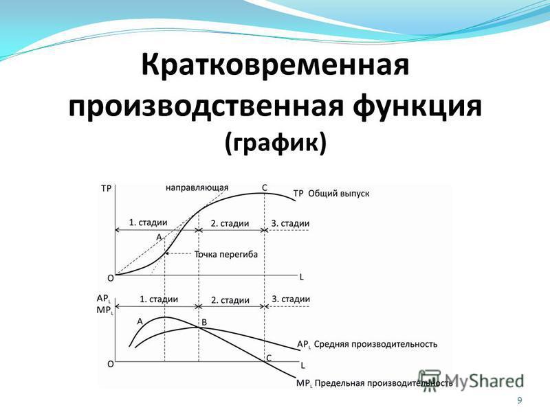 Кратковременная производственная функция (график) 9
