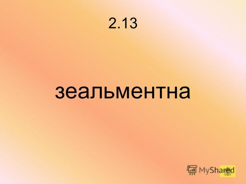 2.13 зеальментна