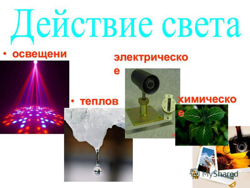 освещение тепловое электрическое химическое