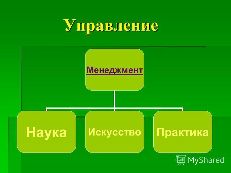 Управление Управление Менеджмент Наука ИскусствоПрактика
