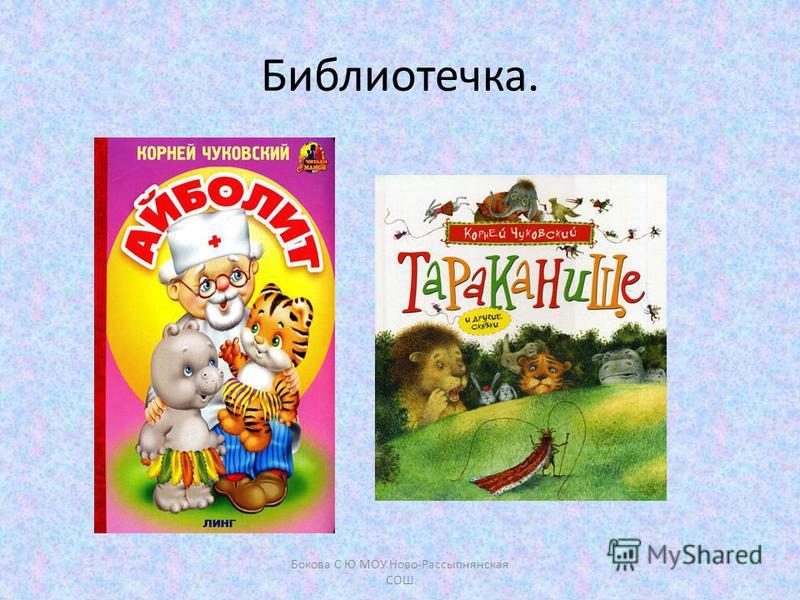 Библиотечка. Бокова С Ю МОУ Ново-Рассыпнянская СОШ