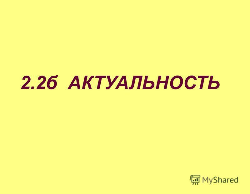2.2 б АКТУАЛЬНОСТЬ