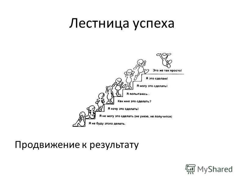 Лестница успеха Продвижение к результату