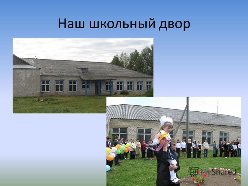 Наш школьный двор