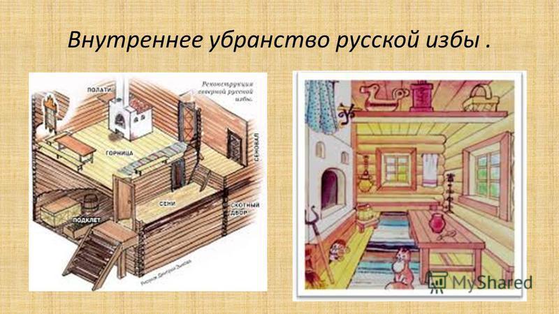 Внутреннее убранство русской избы.