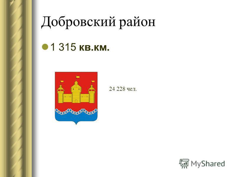 Добровский район 1 315 кв.км. 24 228 чел.