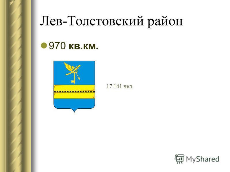 Лев-Толстовский район 970 кв.км. 17 141 чел.