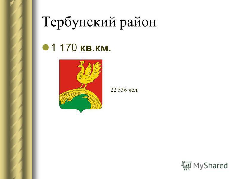 Тербунский район 1 170 кв.км. 22 536 чел.