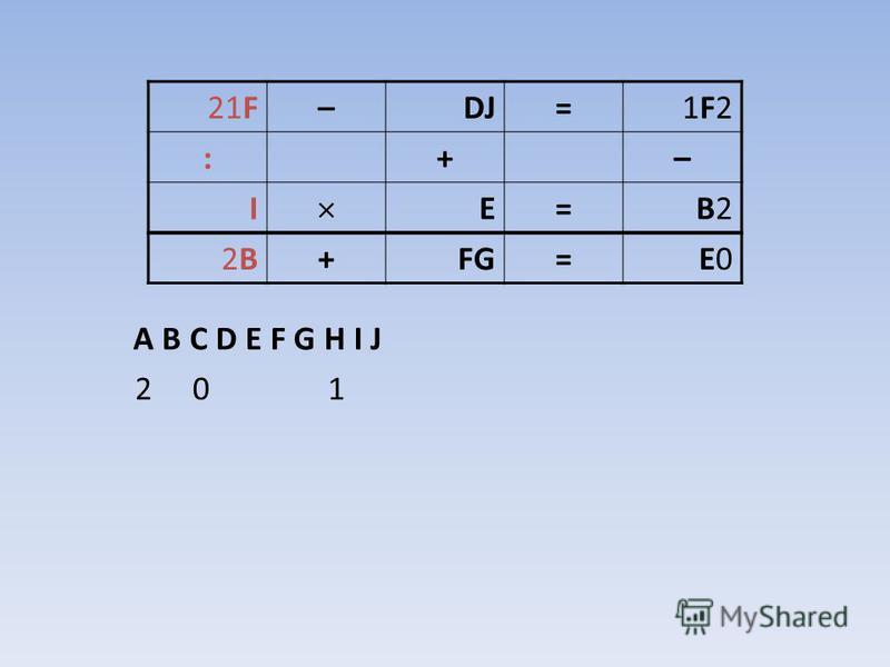A B C D E F G H I J 2 0 1 21F–DJ=1F21F2 :+– I E=B2B2 2B2B+FG=E0E0