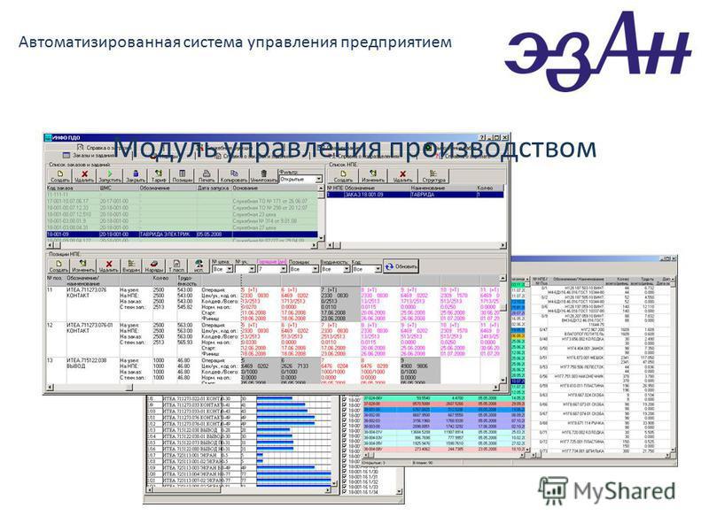 Автоматизированная система управления предприятием Модуль управления производством