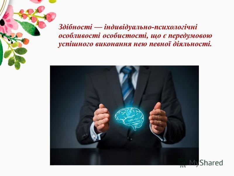 Здібності індивідуально-психологічні особливості особистості, що є передумовою успішного виконання нею певної діяльності.