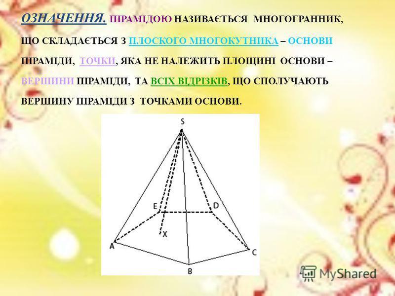Піраміда в математиці