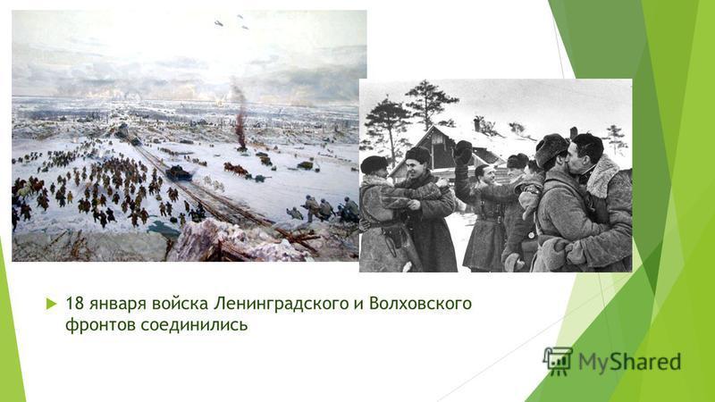18 января войска Ленинградского и Волховского фронтов соединились