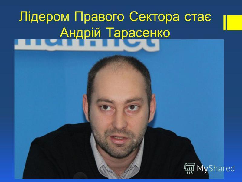 Лідером Правого Сектора стає Андрій Тарасенко