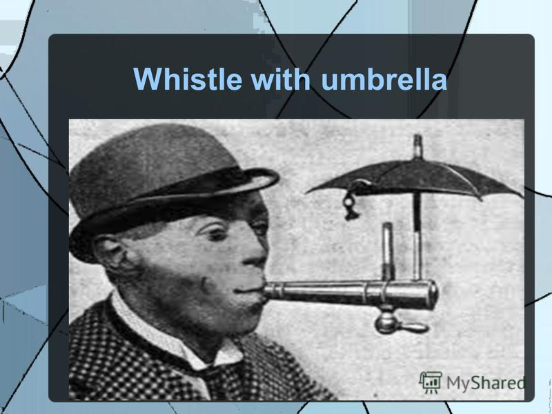 Whistle with umbrella