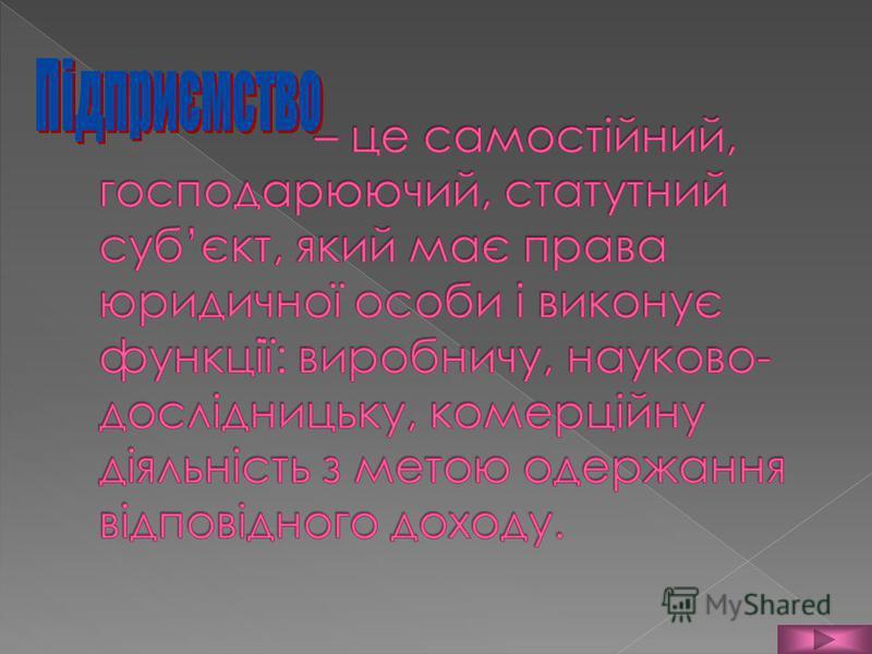 Підприємство Функції підприємства Організаційні форми підприємства Форми власності Підприємництво Підприємець та його функції Види підприємницької діяльності.