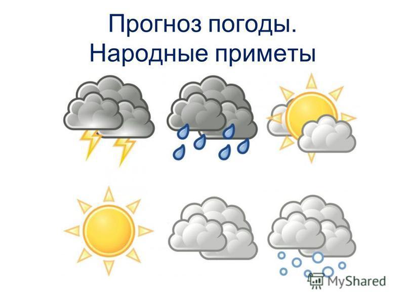 Прогноз погоды. Народные приметы