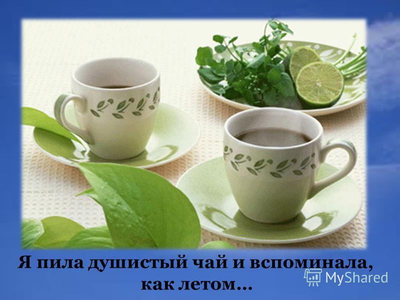 Я пила душистый чай и вспоминала, как летом…