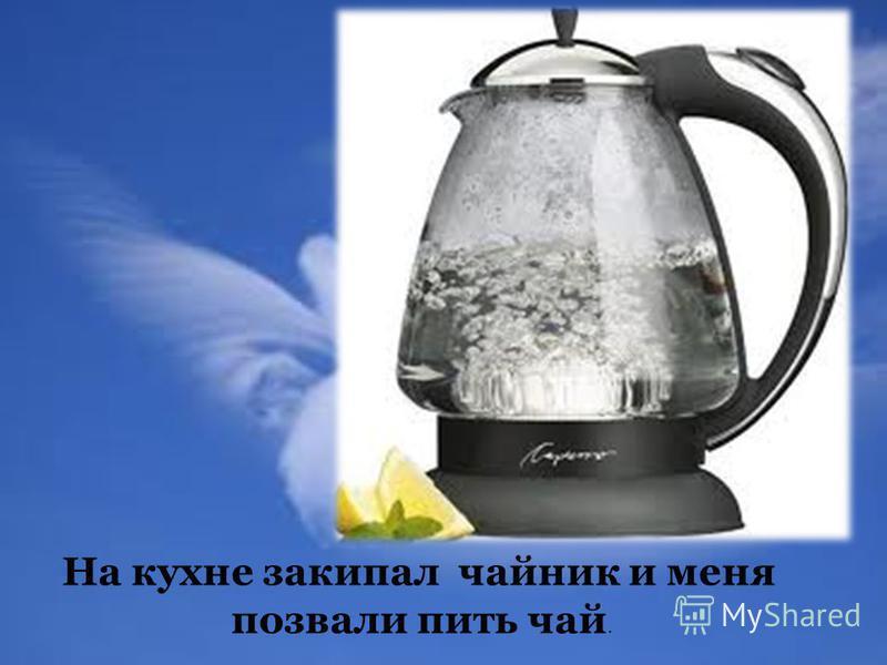 На кухне закипал чайник и меня позвали пить чай.