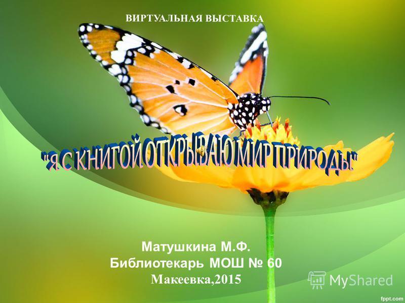 ВИРТУАЛЬНАЯ ВЫСТАВКА Матушкина М.Ф. Библиотекарь МОШ 60 Макеевка,2015